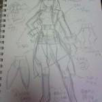 ブログ更新:衣装考案。