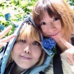 紫陽花と一緒【遙か3】