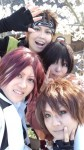 携帯からブログ:三馬鹿&千鶴で花見