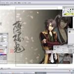 ブログ更新:沖田の鯉を描く。